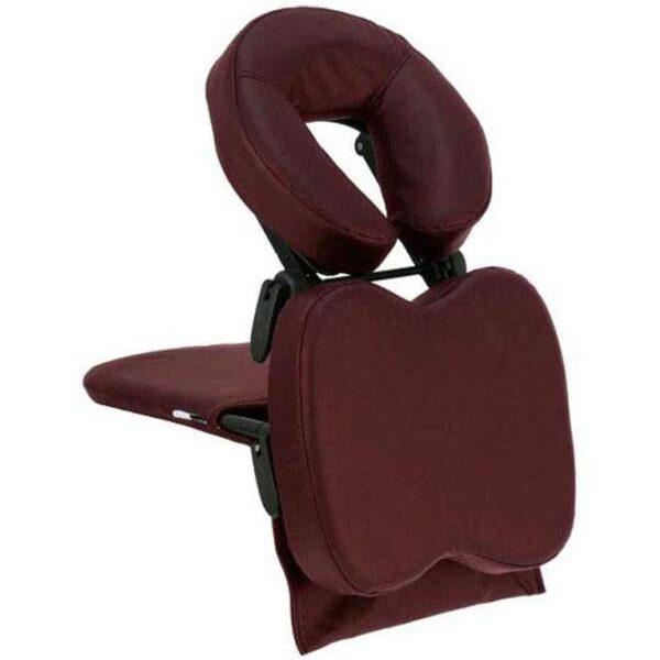 Tafelopzetstuk met verstelbare hoofdsteun voor mobiele massage Travel Mate rood