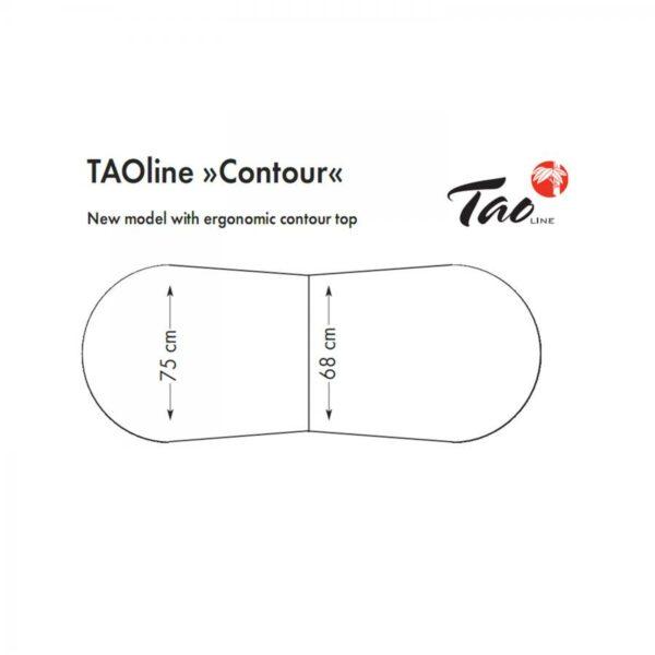 inklapbare massagetafel TAOline CONTOUR 75cm 1